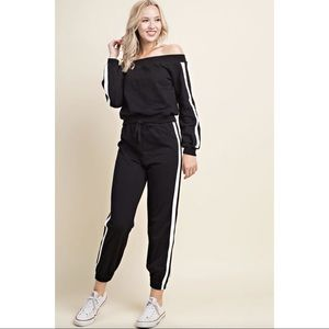 Side Stripe Athletic Joggers